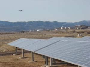 Solar array with airplane near Prescott AZ_WS_David Bergman